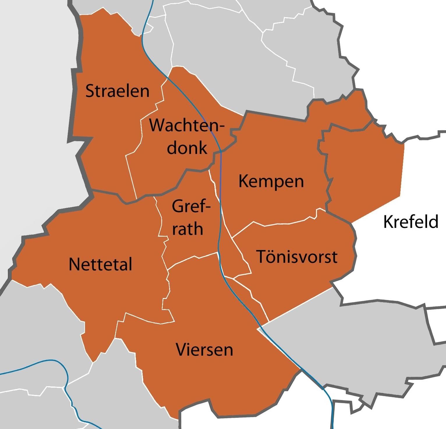 Karte Einzugsgebiet